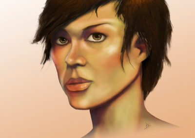 Female Face Portrait for Games 002